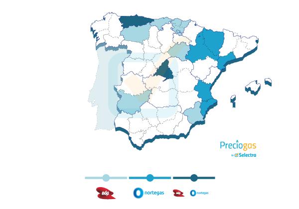 Distribución de EDP y Nortegas
